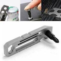 Kleine Ratsche Multi-Tool-Schlüsselanhänger 6 in 1 Flaschenöffner Schlüssel J5X2