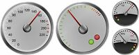 KIDS RIDE ON Pedal Car Speedo Rev Fuel & Temperature Sticker Set 4 Gauges Decals