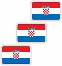 STICKER Croatia 3x small Flag 3cm Bumper Car Tablet Door Bike Book