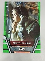 Princess Leia Organa 2020 Topps Star Wars Holocron Green Parallel #REB-9