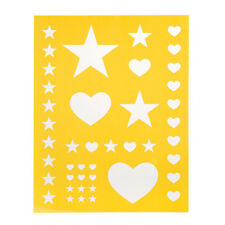 "Darice Hearts and Stars Self Adhesive Craft Stencil 8.5"" x 11"""