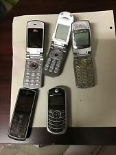 LOT OF 9 OLD VINTAGE USED CELL PHONES And Uniden Walkie Talkie