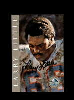 Larry Little SGC Nm Mt 8 1998 HOF Signature Series Miami Dolphins Autograph