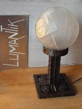RARE Authentique Lampe fer forgé - Globe MULLER Frères Luneville - ART DECO