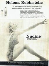 Publicité Advertising 097  1959  creme dépilatoire Nudine Helena Rubinstein
