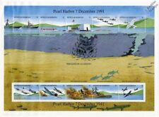 Avión de la Segunda Guerra Mundial Pearl Harbor japonés hoja de sellos de ataque buques de guerra (1991) Antigua