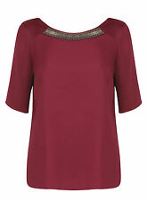 Papaya Scoop Neck Classic Tops & Shirts Size Plus for Women