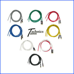 TECHNICS 1200 1210 PRO PERFORMANCE RCA PHONO CABLE / NEUTRIK REAN GOLD CONNECTS