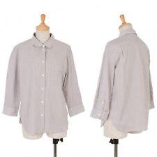 MARGARET HOWELL Stripe Three-quarter Shirt Size 2(K-49331)