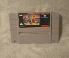 SUPER DOUBLE DRAGON NINTENDO SNES GAME CART NTSC RARE RETRO