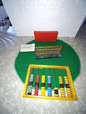 ABACUS COLLECTIN 2  BRASS WITH GREEN MARBLE BASE AND WOOD