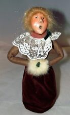 Byers Choice Christmas Caroler Victorian Lady w/Fur Muff Figurine 1987 Mint!
