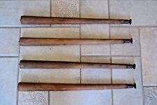 """4 Vintage Mid Century Modern MCM Tapered Table Pencil Legs 22"""" Danish Furniture"""