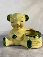 Vintage Royal Copley Bear with Beehive and Bees Planter 6x5 Ceramic Y