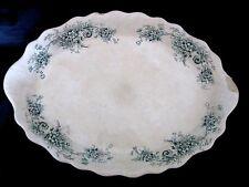 Antique Buffalo Pottery Seneca Platter/Serving dish Green/Blue Floral 14