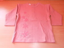tee-shirt manches longues VERTBAUDET vieux rose taille 6 mois - neuf