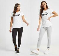 New Puma Women's Core Gym Fitness Running Leggings Black & Grey