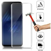 For Samsung Galaxy S8 FULL COVER EDGE TO EDGE TEMPERED GLASS SCREEN PROTECTOR 9H