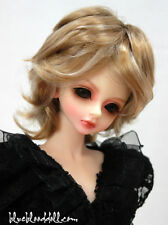 "1/4 1/6 bjd 6-7"" head synthetic mohair highlights doll wig dollfie iplehouse"