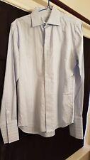 BROOKSFIELD Mens Light Blue Long Sleeve Business Dress Shirt Casual Size 39