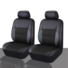 CARPASS  PVC Leather Auto Seat Covers Full Synthetic Set 2 Front Seat Covers