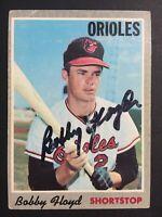 Bobby Floyd Orioles Signed 1970 Topps Baseball Card #101 Auto Autograph 4