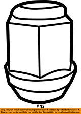 CHRYSLER OEM Wheel-Lug Nut 6509769AA