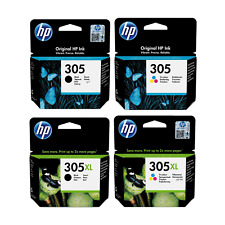 Genuine HP305XL BK & COLOUR Ink Cartridges for DeskJet 2710 2720 Plus 4100 Lot