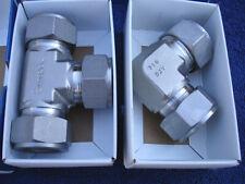 """Swagelok 1"""" Tube SS Stainless Steel Tee SS-1610-3 90 deg elbow SS-1610-9 New"""