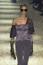 F/W 2003 TOM FORD for GUCCI BLACK SILK TOP BLOUSE 40
