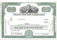 CHARTER NEW YORK CORPORATION(BANK OF NEW YORK)...1968 STOCK CERTIFICATE