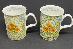Two Roy Kirkham The Herb Garden Fine Bone China Made In England 1997 Nasturtiums