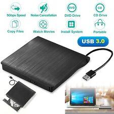 Slim External DVD RW CD Writer Drive USB 3.0 Burner Reader Player For Laptop PC