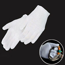 Wholesale White Inspection Cotton Lisle Work Gloves Coin Jewelry Lightweight Hor