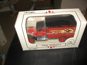 Anheuser Busch Delivery Truck 1931 Die Cast Metal Coin Bank USA 1/34 scale