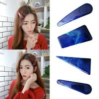 Women One Side Hair Clip Hollow Geometric Colored Marble Textured