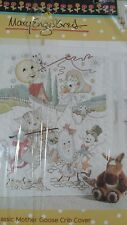 Mary Engelbreit cross stitch crib cover kit new Mother Goose prequilted 34 X 43