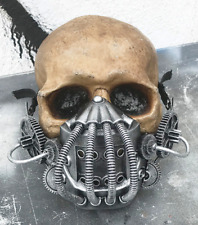 Distressed Silver STEAMPUNK 'BANE' (Dark Knight Rises) Mask -Tubes, Coils, Gears
