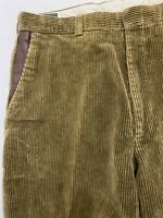 VNTG Orvis 36 x 32 USA MADE Heavy Cotton Wide Wale Corduroy Pleated Trousers