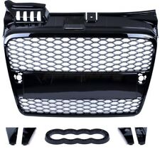AUDI A4 B7 2004-2007 RS RS4 STYLE GLOSS BLACK HONEYCOMB RADIATOR BUMPER GRILLE