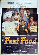 manifesto movie poster 2F Italian Fast Food  Lodovico Gasparini drive in comico