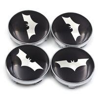 4PCS Bat Car Wheel Center Hub Caps Auto Stickers Emblem Rim Covers 60mm For Bat
