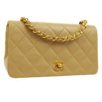 CHANEL Full Flap Quilted CC Single Chain Shoulder Bag 1456481 Purse BE 03486