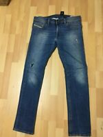 NWT Mens Diesel THAVAR U/Smooth Stretch Denim Blue Slim W31-33 L32 H6 RRP£200