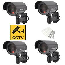 4x Dummy Kamera Attrappe Videoüberwachung LED Fake Alarmanlage CCTV Innen Außen
