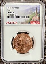 More details for austria 5 euro janus 2021 coin ngc ms 68 rd
