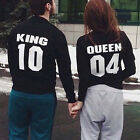 Couple T-Shirt Blouse King and Queen Love Matching Shirts Couple Tee Tops Hot
