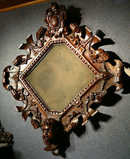 "Antique French Carved Walnut Religious Crucifix Frame Signed G.SEGAUD 26.5""x 23"""