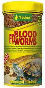 Tropical FD BLOOD WORMS Blutwürmer Reptilienfutter Fisch