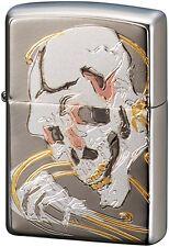 Zippo Japanese Skull Dokuro Ukiyoe Electroforming Japan Limited F/S Oil Lighter
